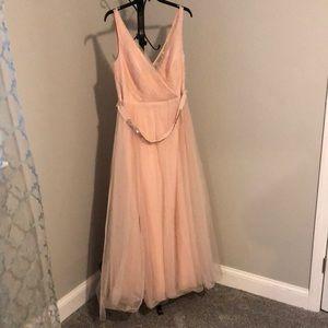 Light blush Vera wang dress